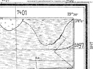 Reduced fragment of topographic map de--mb--025k--19_082--(1940)--N054-06_E019-20--N054-00_E019-30
