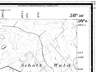 Reduced fragment of topographic map de--mb--025k--19_092--(1897)--N054-06_E021-00--N054-00_E021-10; towns and cities Reszel