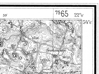 Reduced fragment of topographic map de--mb--025k--19_097--(1935)--N054-06_E021-50--N054-00_E022-00