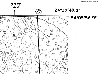 Reduced fragment of topographic map de--mb--025k--19_111-ams--(1952)--N054-06_E024-10--N054-00_E024-20