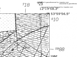 Reduced fragment of topographic map de--mb--025k--20_039-ams--(1952)--N054-00_E012-10--N053-54_E012-20