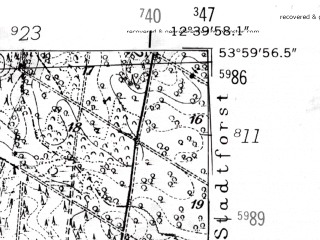 Reduced fragment of topographic map de--mb--025k--20_041-ams--(1952)--N054-00_E012-30--N053-54_E012-40