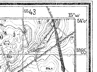 Reduced fragment of topographic map de--mb--025k--20_059--(1940)--N054-00_E015-30--N053-54_E015-40