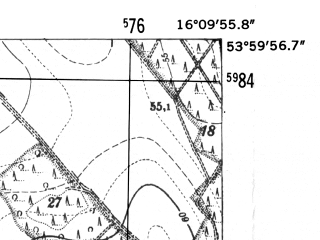 Reduced fragment of topographic map de--mb--025k--20_062-ams--(1952)--N054-00_E016-00--N053-54_E016-10