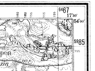 Reduced fragment of topographic map de--mb--025k--20_070--(1942)--N054-00_E017-20--N053-54_E017-30