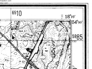 Reduced fragment of topographic map de--mb--025k--20_074--(1942)--N054-00_E018-00--N053-54_E018-10