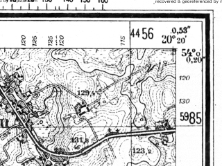 Reduced fragment of topographic map de--mb--025k--20_087--(1944)--N054-00_E020-10--N053-54_E020-20