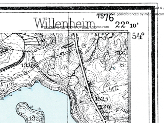Reduced fragment of topographic map de--mb--025k--20_098--(1932)--N054-00_E022-00--N053-54_E022-10; towns and cities Wydminy