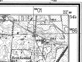 Reduced fragment of topographic map de--mb--025k--20_100--(1944)--N054-00_E022-20--N053-54_E022-30
