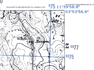 Reduced fragment of topographic map de--mb--025k--21_035-ams--(1952)--N053-54_E011-30--N053-48_E011-40