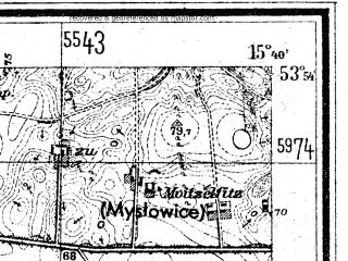 Reduced fragment of topographic map de--mb--025k--21_059--(1948)--N053-54_E015-30--N053-48_E015-40