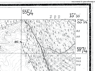 Reduced fragment of topographic map de--mb--025k--21_060--(1933)--N053-54_E015-40--N053-48_E015-50; towns and cities Slawoborze