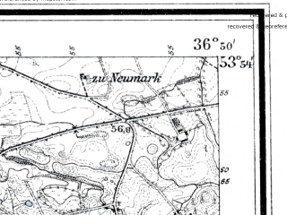 Reduced fragment of topographic map de--mb--025k--21_080--(1910)--N053-54_E019-00--N053-48_E019-10; towns and cities Mikolajki Pomorskie