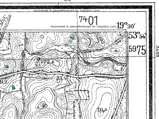 Reduced fragment of topographic map de--mb--025k--21_082--(1938)--N053-54_E019-20--N053-48_E019-30