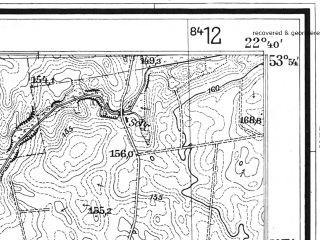 Reduced fragment of topographic map de--mb--025k--21_101--(1930)--N053-54_E022-30--N053-48_E022-40