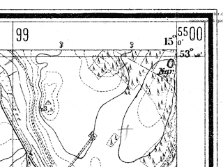 Reduced fragment of topographic map de--mb--025k--22_055--(1929)--N053-48_E014-50--N053-42_E015-00