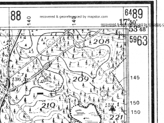 Reduced fragment of topographic map de--mb--025k--22_072--(1940)--N053-48_E017-40--N053-42_E017-50