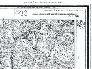 Reduced fragment of topographic map de--mb--025k--22_094--(1924)--N053-48_E021-20--N053-42_E021-30