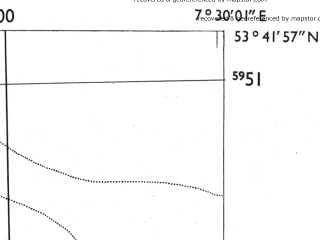 Reduced fragment of topographic map de--mb--025k--23_010-ams--(1955)--N053-42_E007-20--N053-36_E007-30