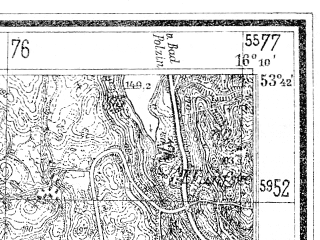 Reduced fragment of topographic map de--mb--025k--23_062--(1937)--N053-42_E016-00--N053-36_E016-10