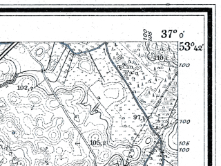 Reduced fragment of topographic map de--mb--025k--23_081--(1910)--N053-42_E019-10--N053-36_E019-20