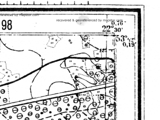 Reduced fragment of topographic map de--mb--025k--23_100--(1944)--N053-42_E022-20--N053-36_E022-30; towns and cities Grajewo