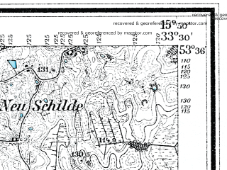 Reduced fragment of topographic map de--mb--025k--24_060--(1929)--N053-36_E015-40--N053-30_E015-50; towns and cities Drawsko Pomorskie