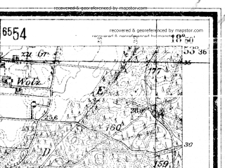 Reduced fragment of topographic map de--mb--025k--24_078--(1942)--N053-36_E018-40--N053-30_E018-50