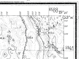 Reduced fragment of topographic map de--mb--025k--24_081--(1938)--N053-36_E019-10--N053-30_E019-20