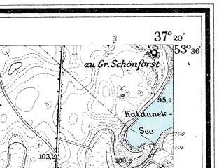 Reduced fragment of topographic map de--mb--025k--24_083--(1918)--N053-36_E019-30--N053-30_E019-40; towns and cities Ilawa