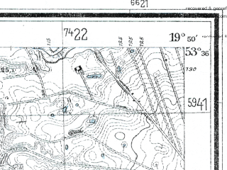 Reduced fragment of topographic map de--mb--025k--24_084--(1928)--N053-36_E019-40--N053-30_E019-50; towns and cities Lubawa