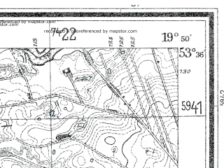 Reduced fragment of topographic map de--mb--025k--24_084--(1940)--N053-36_E019-40--N053-30_E019-50; towns and cities Lubawa
