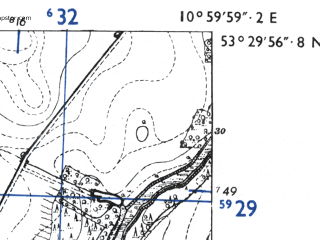 Reduced fragment of topographic map de--mb--025k--25_031-ams--(1955)--N053-30_E010-50--N053-24_E011-00