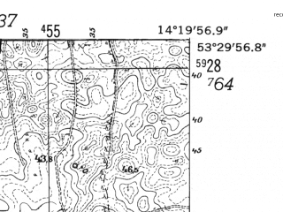 Reduced fragment of topographic map de--mb--025k--25_051-ams--(1952)--N053-30_E014-10--N053-24_E014-20