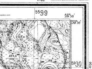 Reduced fragment of topographic map de--mb--025k--25_064--(1934)--N053-30_E016-20--N053-24_E016-30