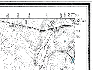 Reduced fragment of topographic map de--mb--025k--25_084--(1912)--N053-30_E019-40--N053-24_E019-50