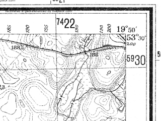 Reduced fragment of topographic map de--mb--025k--25_084--(1940)--N053-30_E019-40--N053-24_E019-50