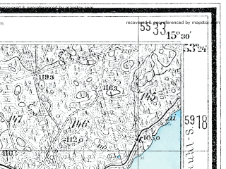 Reduced fragment of topographic map de--mb--025k--26_058--(1936)--N053-24_E015-20--N053-18_E015-30