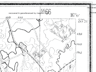 Reduced fragment of topographic map de--mb--025k--26_061--(1935)--N053-24_E015-50--N053-18_E016-00