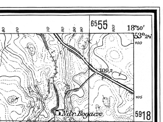 Reduced fragment of topographic map de--mb--025k--26_078--(1928)--N053-24_E018-40--N053-18_E018-50