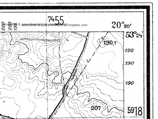 Reduced fragment of topographic map de--mb--025k--26_087--(1934)--N053-24_E020-10--N053-18_E020-20