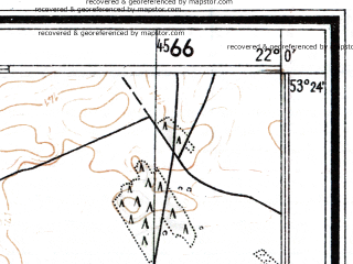 Reduced fragment of topographic map de--mb--025k--26_097--(1944)--N053-24_E021-50--N053-18_E022-00