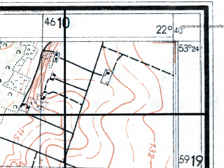 Reduced fragment of topographic map de--mb--025k--26_101--(1944)--N053-24_E022-30--N053-18_E022-40