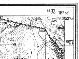 Reduced fragment of topographic map de--mb--025k--27_058--(1945)--N053-18_E015-20--N053-12_E015-30