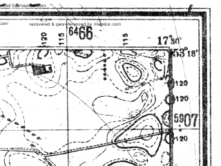 Reduced fragment of topographic map de--mb--025k--27_070--(1944)--N053-18_E017-20--N053-12_E017-30