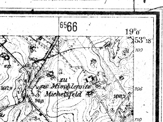 Reduced fragment of topographic map de--mb--025k--27_079--(1944)--N053-18_E018-50--N053-12_E019-00; towns and cities Wabrzezno