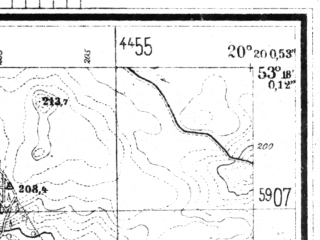Reduced fragment of topographic map de--mb--025k--27_087--(1944)--N053-18_E020-10--N053-12_E020-20; towns and cities Dzialdowo