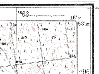 Reduced fragment of topographic map de--mb--025k--28_061--(1937)--N053-12_E015-50--N053-06_E016-00