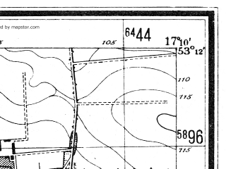 Reduced fragment of topographic map de--mb--025k--28_068--(1944)--N053-12_E017-00--N053-06_E017-10