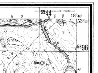 Reduced fragment of topographic map de--mb--025k--28_077--(1940)--N053-12_E018-30--N053-06_E018-40; towns and cities Chelmza